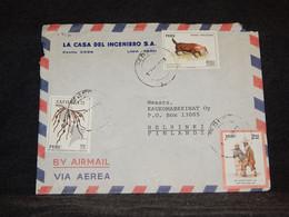 Peru 1973 Air Mail Cover To Finland__(1216) - Peru