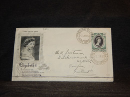 Pitcairn Islands 1953 Elizabeth Stamp Cover To Finland__(3201) - Pitcairn Islands