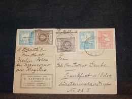 Poland 1920's Postcard To Germany__(276) - Briefe U. Dokumente