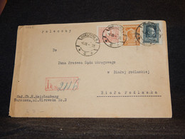 Poland 1928 Warszawa Registered Cover__(3265) - Briefe U. Dokumente