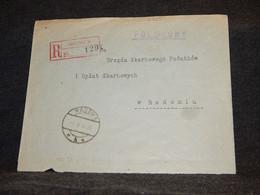 Poland 1931 Radom Registered Cover__(2869) - Briefe U. Dokumente