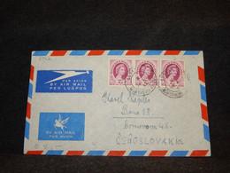 Rhodesia & Nyasaland 1954 Lusaka Air Mail Cover To Czechoslovakia__(2742) - Rhodesien & Nyasaland (1954-1963)