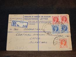 Rhodesia & Nyasaland 1958 Balaka Registered Cover__(2740) - Rhodesien & Nyasaland (1954-1963)