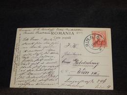 Romania 1911 Sinaia Postcard To Austria__(2719) - Briefe U. Dokumente