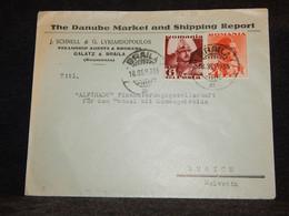 Romania 1936 Braila Business Cover To Switzerland__(2859) - Briefe U. Dokumente