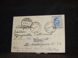 Romania 1936 Of Autoriz Card To Austria__(2720) - Briefe U. Dokumente