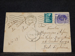 Romania 1937 Cernauti Postcard__(1722) - Briefe U. Dokumente