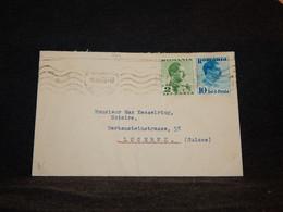 Romania 1939 Cover To Switzerland__(794) - Briefe U. Dokumente