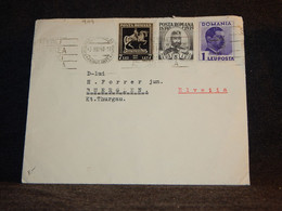 Romania 1940 Cover To Switzerland__(909) - Briefe U. Dokumente