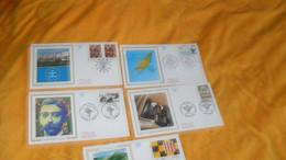 LOT 5 ENVELOPPES FDC DE 1994../ ART CONTEMPORAIN SCULLY, DEBARQUEMENT EN PROVENCE, ORGUES DE LA CATHEDRALE DE POITIERS, - 1990-1999