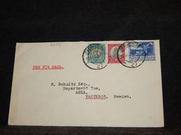 South Africa 1953 Johannesburg Per Sea Mail Cover To Sweden__(2399) - Briefe U. Dokumente