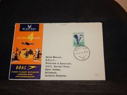 South Africa 1959 Johannesbrg Salisbury B.O.A.C Cover__(2398) - Briefe U. Dokumente