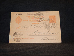 Spain 1902 10c Orange Stationery Card To Finland__(470) - 1850-1931