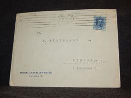 Spain 1927 Valencia Miguel Carceller Business Cover__(2191) - Cartas