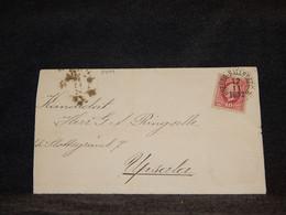 Sweden 1892 Örebro Hallsberg Cover To Upsala__(3499) - Briefe U. Dokumente