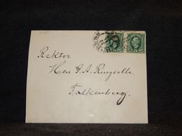 Sweden 1895 Örebro Cover To Falkenberg__(3490) - Briefe U. Dokumente