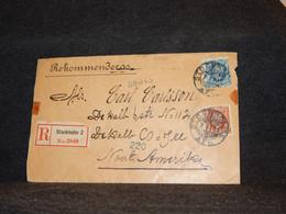 Sweden 1905 Stockholm Registered Cover To Nout Amerika__(2486) - Briefe U. Dokumente