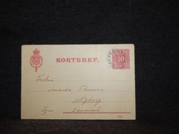 Sweden 1911 10ö Red Kortbref To Denmark__(384) - Briefe U. Dokumente