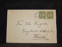 Sweden 1911 Hedemora Cover To Weddö__(3545) - Briefe U. Dokumente