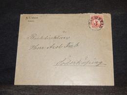 Sweden 1914 Halmstad Cover To Söderköping__(2514) - Briefe U. Dokumente