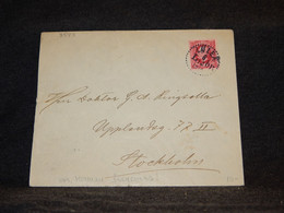 Sweden 1914 Luleå Cover To Stockholm__(3543) - Briefe U. Dokumente
