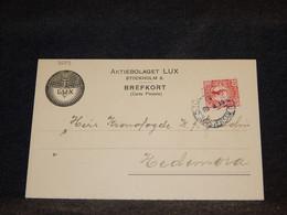 Sweden 1919 Stockholm Card To Hedemora__(3559) - Briefe U. Dokumente