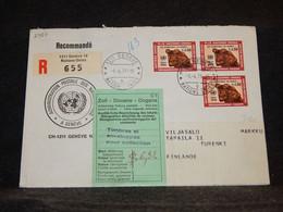Switzerland (UN Geneva) 1971 Geneve Registered Cover To Finland__(2987) - Cartas