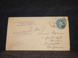 USA 1889 1c Blue Stationery Envelope To Belgium__(1992) - ...-1900