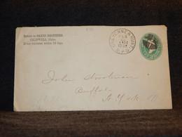USA 1892 Cheyenne 2c Green Stationery Envelope__(570) - ...-1900