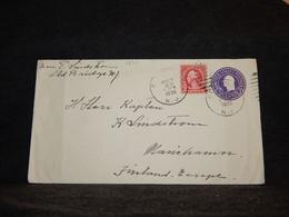 USA 1935 Old Bridge 3c Violet Stationery Envelope To Finland__(1237) - 1921-40