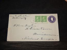 USA 1939 Stationery Envelope To Mariehamn__(1366) - 1921-40