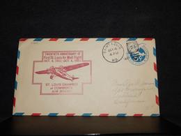USA 1941 Saint Louis 5c Blue Stationery Envelope__(4201) - 1941-60