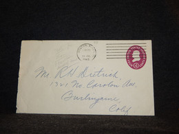 USA 1962 Boston 4c Violet Stationery Envelope__(73) - 1961-80
