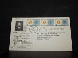 USA 1962 Washington Kennedy Cover__(4198) - Cartas