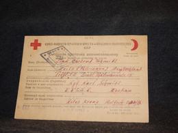 USSR 1946 Red Cross Card__(3672) - Briefe U. Dokumente