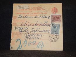 Yugoslavia 1928 Zagreb Parcel Card__(2816) - Briefe U. Dokumente