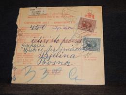 Yugoslavia 1928 Zagreb Parcel Card__(2824) - Briefe U. Dokumente