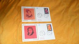 LOT 2 ENVELOPPES FDC DE 1994../ JOSEPHINE BAKER, YVONNE PRINTEMPS...CACHETS + TIMBRE - 1990-1999
