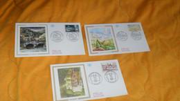 LOT 3 ENVELOPPES FDC DE 1994../ ARGENTAT, MONTAGNE DE SAINTE VICTOIRE, LA VALLEE DE LA SAULX...CACHETS + TIMBRE - 1990-1999