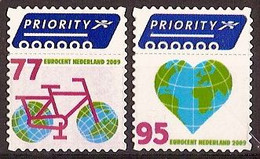 Nederland 2009 NVPH Nr 2621/2622 Postfris/MNH Fiets, Bicycle, Hart, Heart, Coeur - Unused Stamps