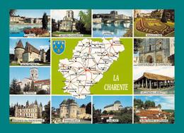 16 La Charente ( Multivues, Map, Carte Géographique, Jarnac, Blanzac, Bourg Charente, Cognac, Villebois, Chalais ) - Unclassified