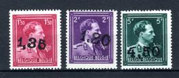 724U/724W MNH** 1946 - Leopold III Met V En Kroon - 1946 -10%