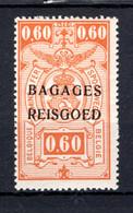 """BA6 MNH** 1935 - Spoorwegzegels Met Opdruk """"BAGAGES - REISGOED"""" - Luggage"""