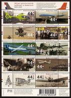 Nederland 2009 NVPH Nr 2672/2681 Postfris/MNH Luchtvaart, Vliegtuigen, Planes, Avions - Unused Stamps