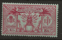 New Hebrides, 1925, F  52, Mint, Lightly Hinged - Unused Stamps