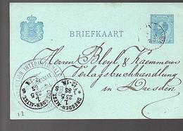 1883 EXPOSITION INTERNATIONALE > Bleyl & Kämererer Verlagsbuchhandlung Dresden-Altstrasse   (FA-23) - Briefe U. Dokumente