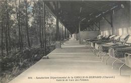 CPA 16 Charente Sanatorium Départemental De La Grolle St Bernard Galerie De Cure Des Femmes - Autres Communes