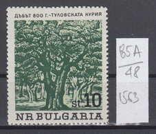 48K85A / 1563 Bulgaria 1964 Michel Nr. 1506 - Stieleiche (Quercus Robur) Stadt Kazanlak , Old Trees , ** MNH - Alberi