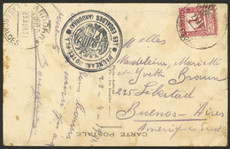 SPANISH ANDORRA: Postcard Franked With 25c. (Sc.18a) Sent From LAS ESCALDES To Argentina On 23/AP/1931 - Cartas