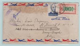 Militaire Post, Belgisch Congo, Leopoldsburg,  Met Speciale Censuur Stempel Naar Louis De Pouque St Kruis, België - 1947-60: Cartas